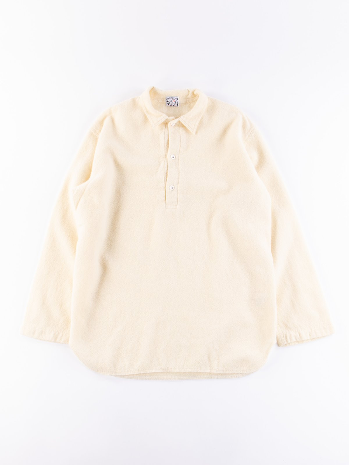 Cream Weavers Stock Pullover Tail Shirt - Image 1