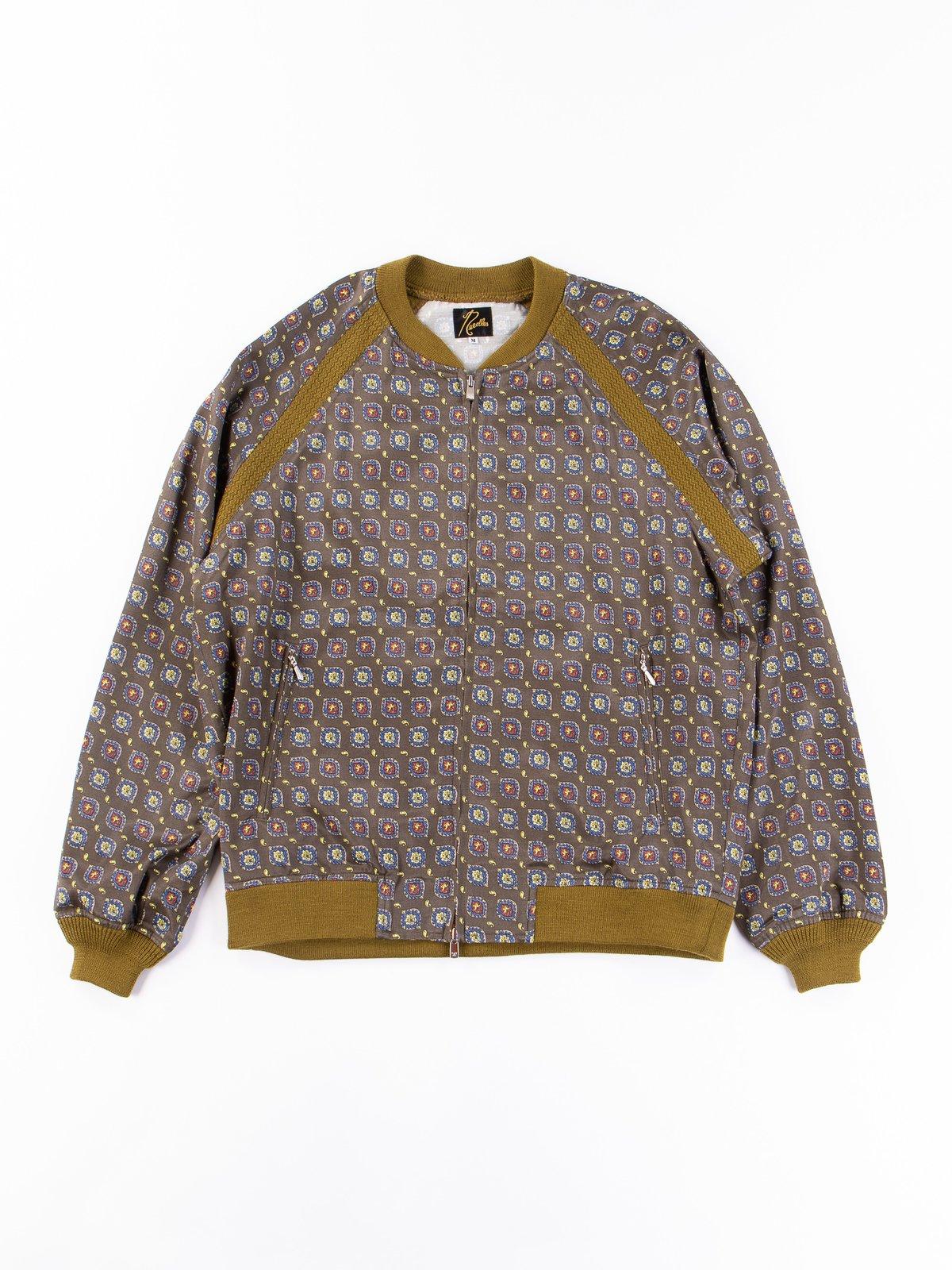 Olive Fine Pattern Sateen W.S.S. Jacket - Image 1