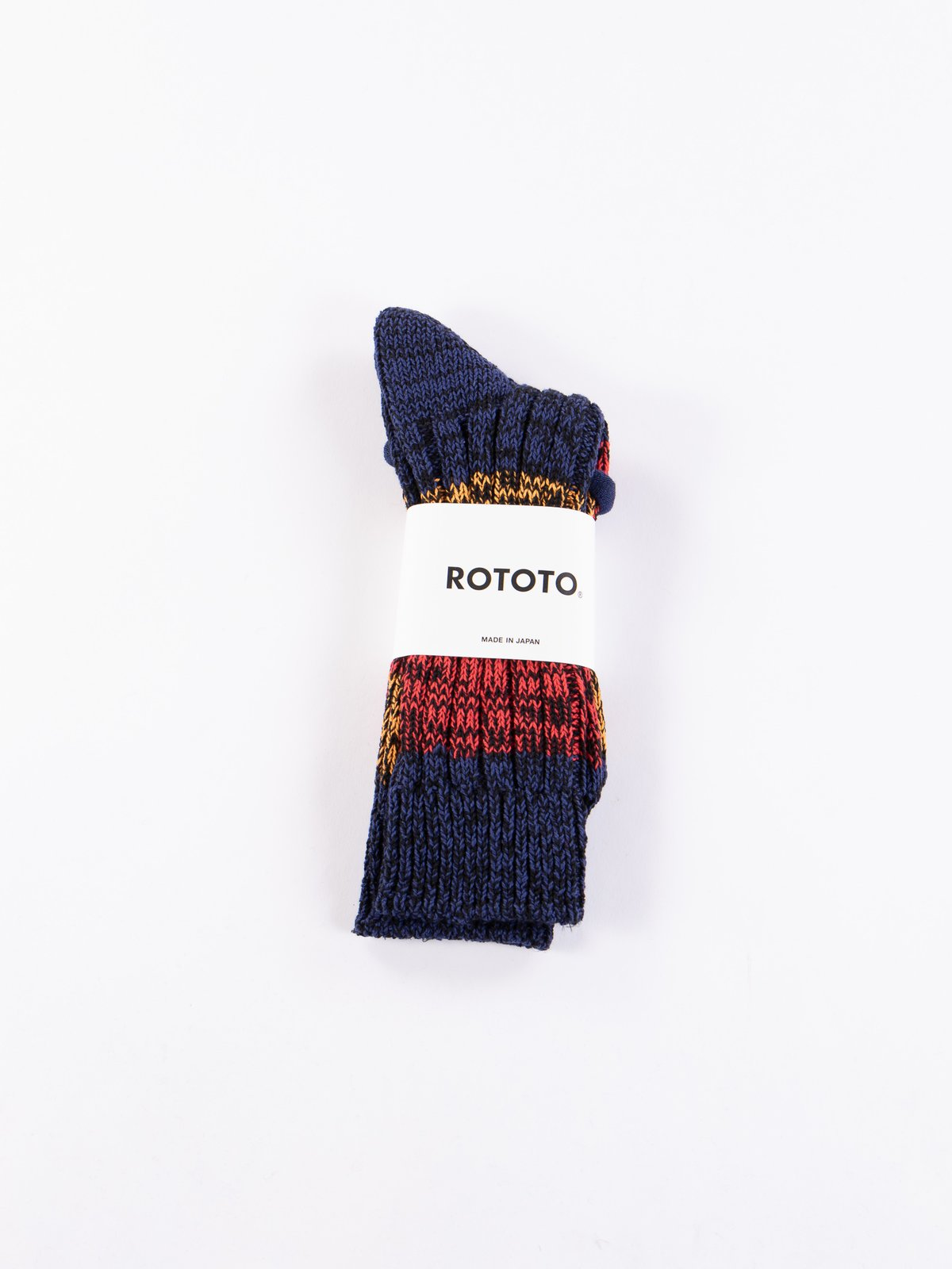 Blue/Red/Orange Mixture Crew Socks - Image 2