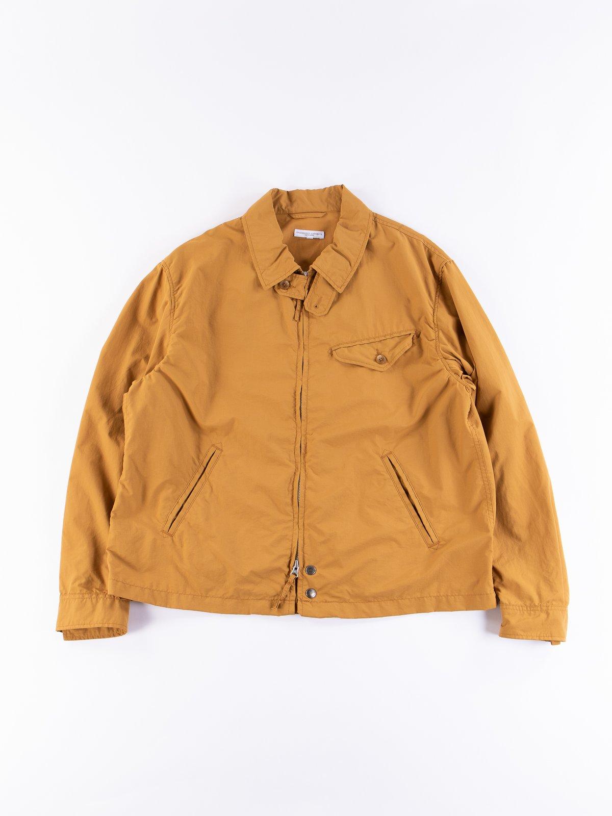 Mustard Acrylic Coated Nylon Taffeta Driver Jacket - Image 1