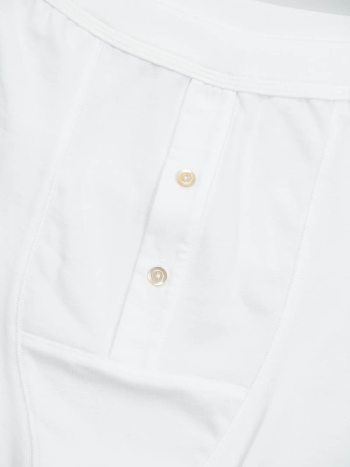 White 255 Button Facing Underpant - Image 2