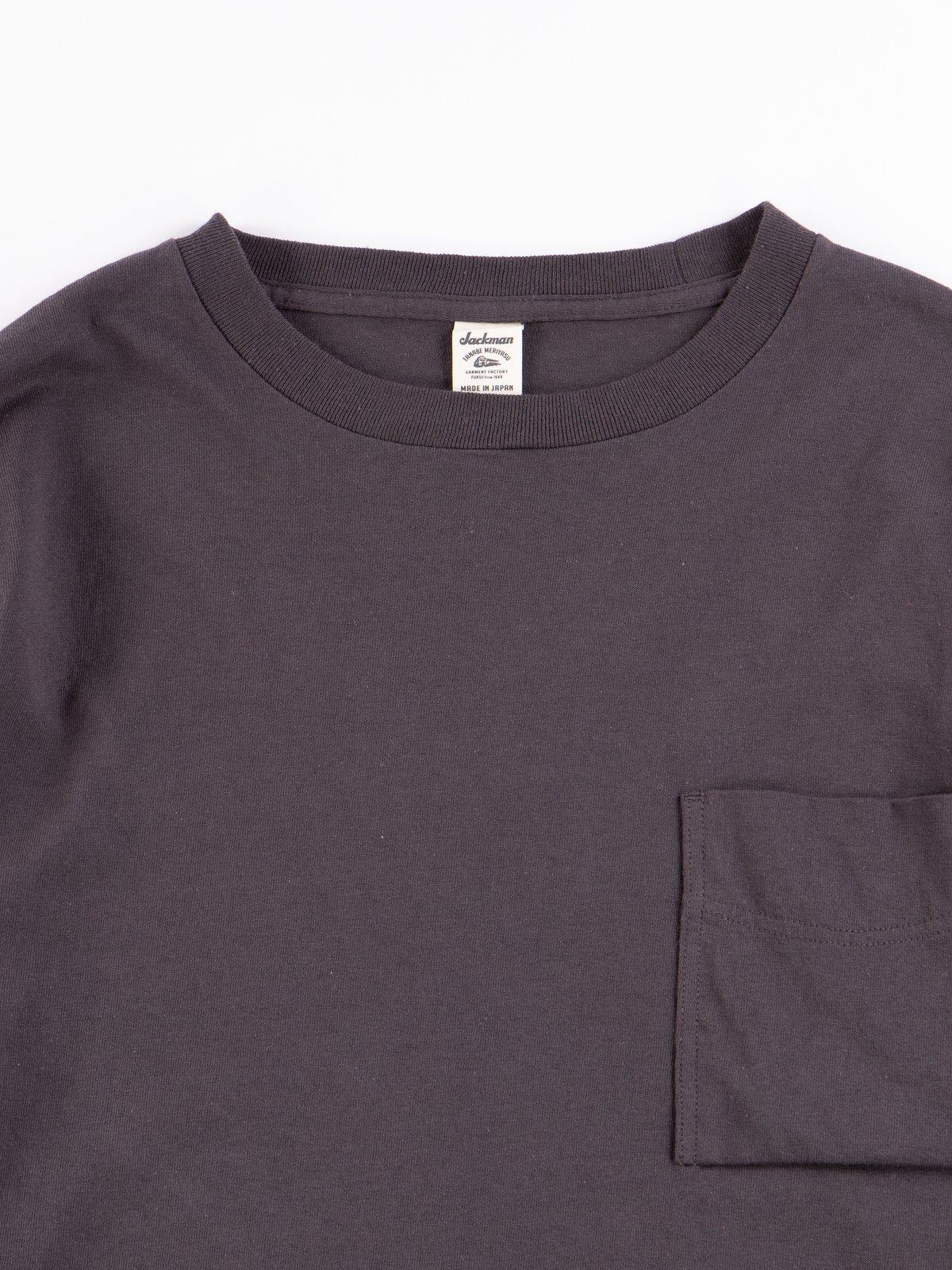Off Black Long Sleeve Pocket T–Shirt - Image 3