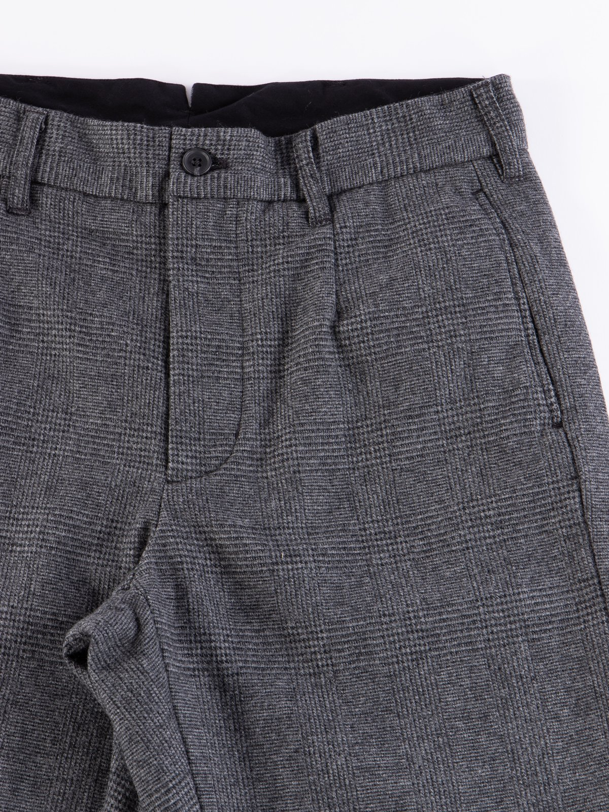 Grey Wool Glen Plaid Stripe Andover Pant - Image 4