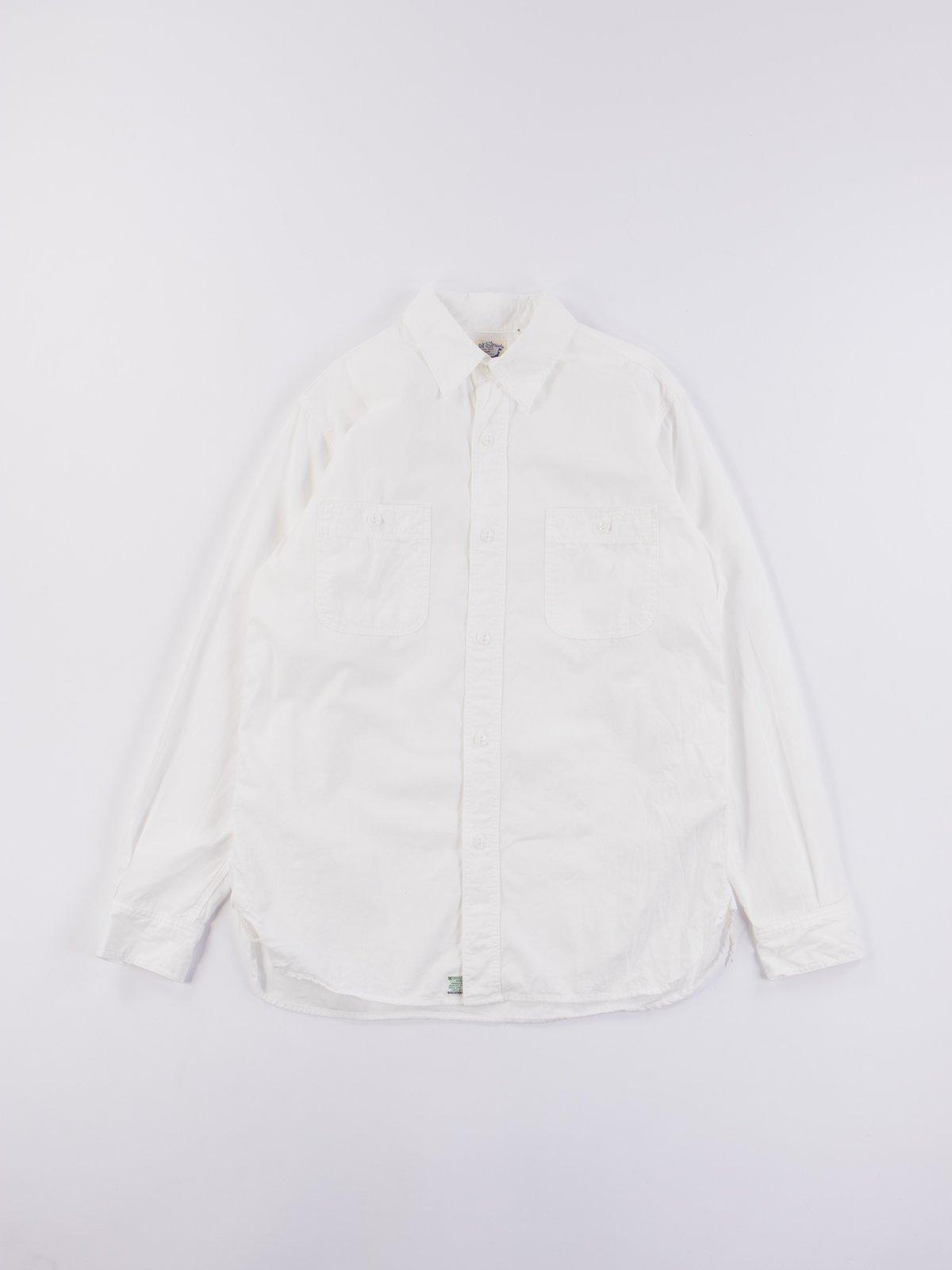 White Chambray Work Shirt - Image 1