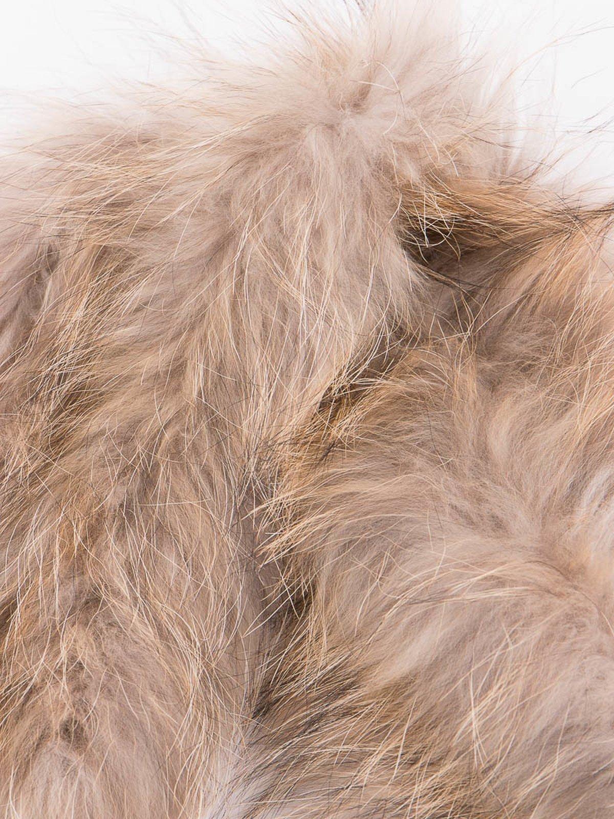 Gold Racoon Furling Coat Scarf - Image 2