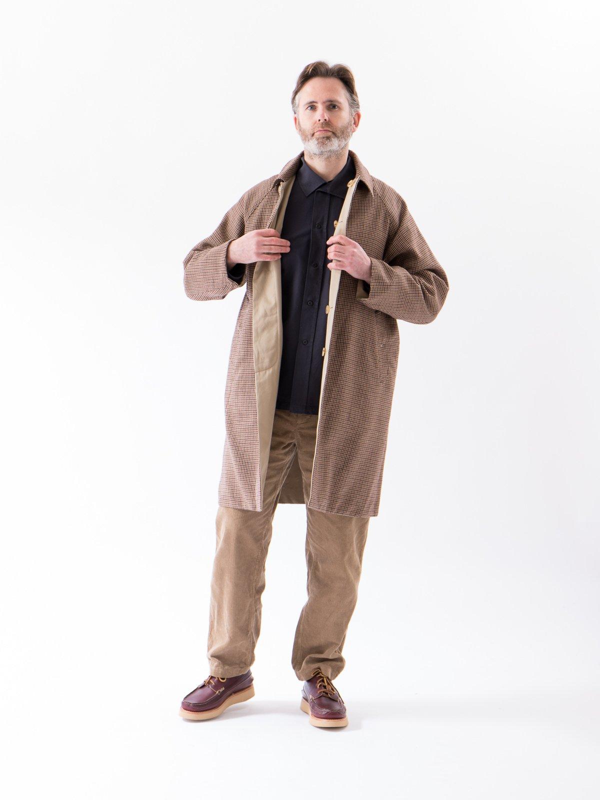 Light Khaki/Gunclub Reversible Balmacaan Coat - Image 2