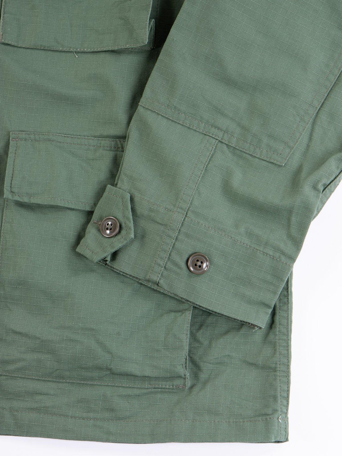 Olive Cotton Ripstop BDU Jacket - Image 4