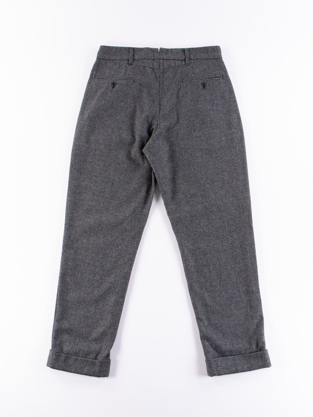 Grey Wool Glen Plaid Stripe Andover Pant - Image 7