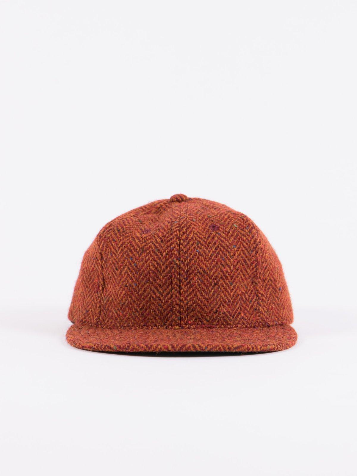 Rust HB Tweed NIer 6 Panel Ballcap - Image 3