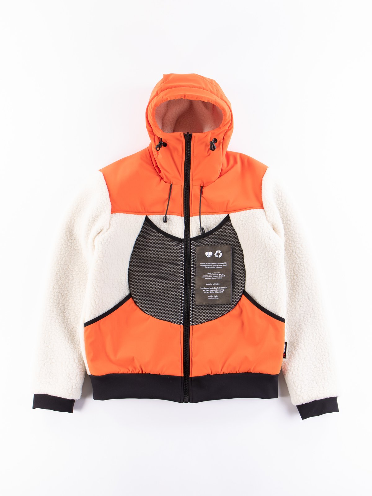Orange Reversible Hooded Jogger - Image 1