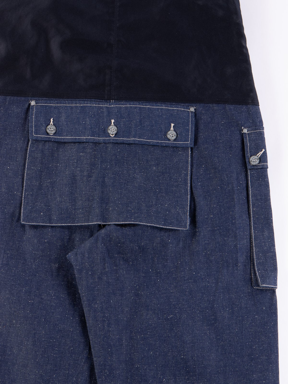Lybro Split Denim/Navy Sateen Naval Dungaree - Image 6
