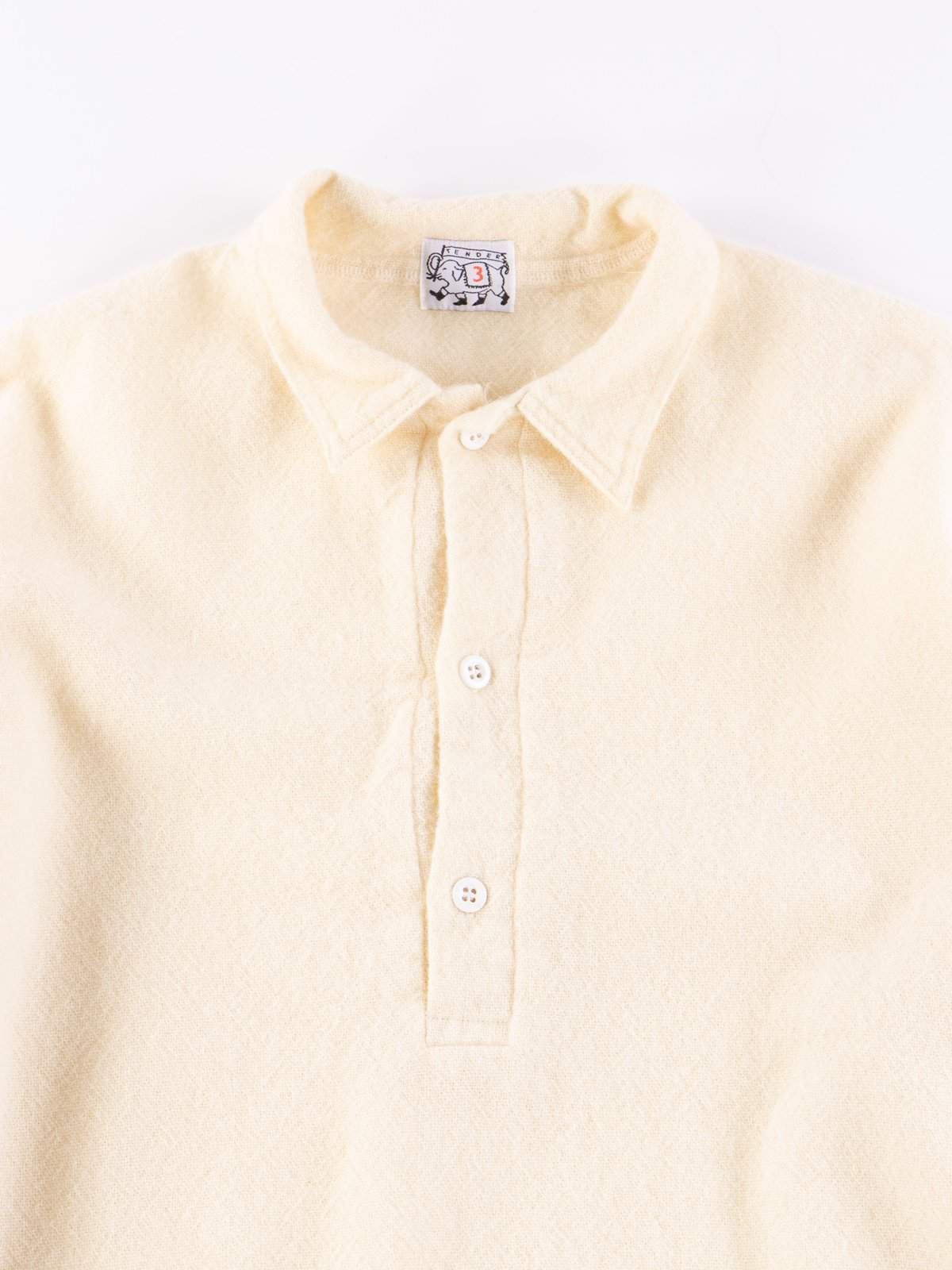Cream Weavers Stock Pullover Tail Shirt - Image 3