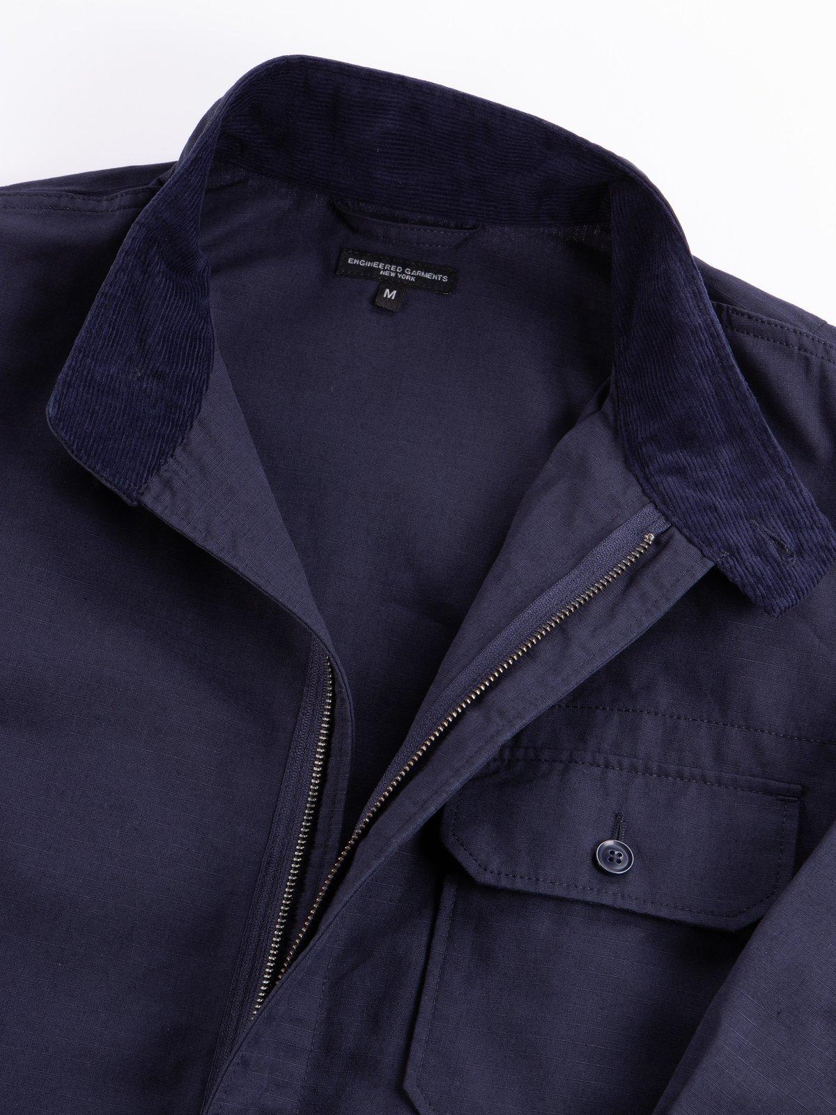 Dark Navy Cotton Ripstop Boiler Suit - Image 6