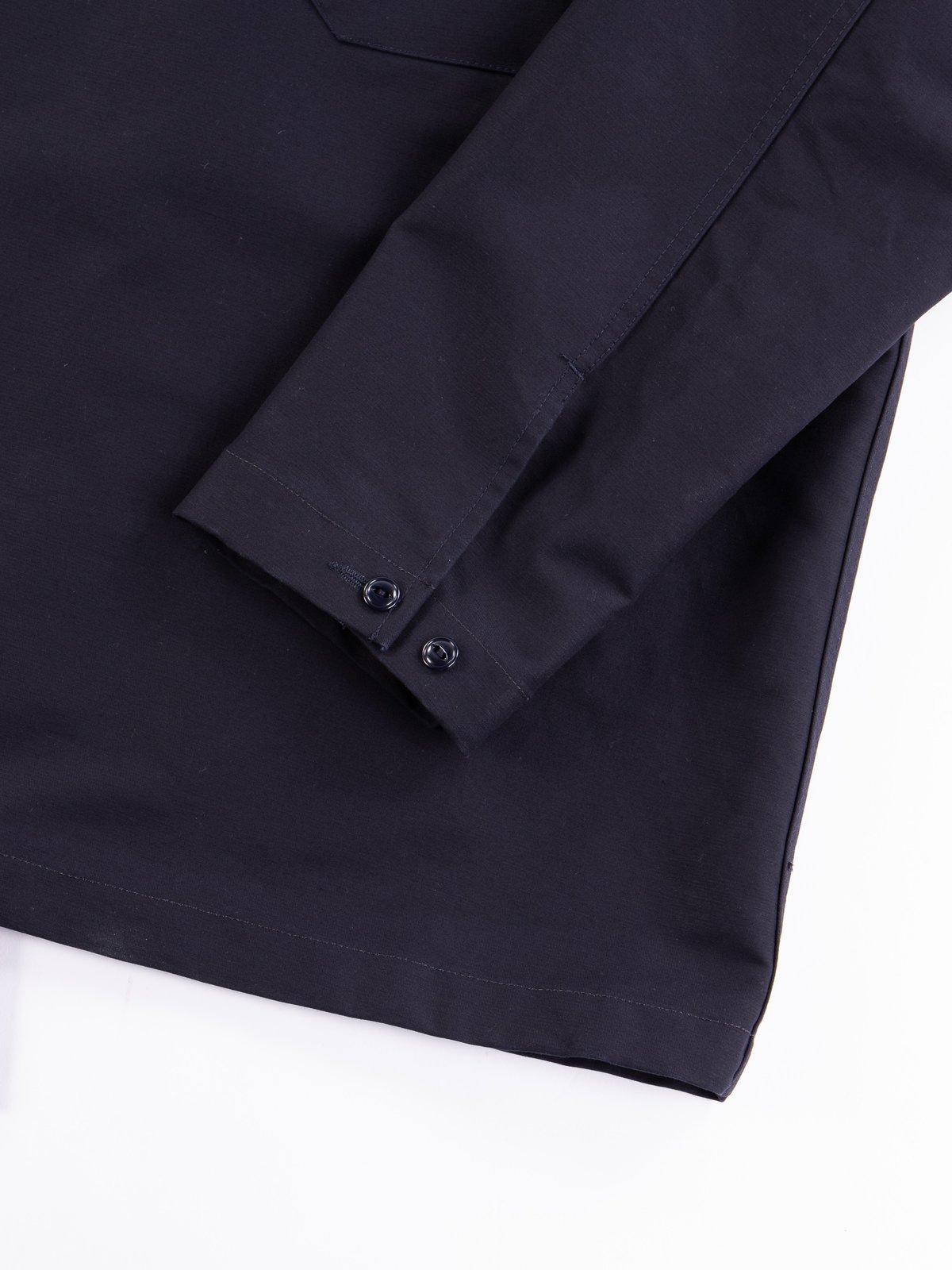 Navy Cotton Double Cloth Cagoule Shirt - Image 4