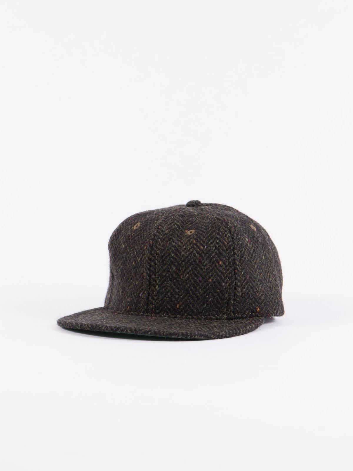 Olive HB Tweed NIer 6 Panel Ballcap - Image 1