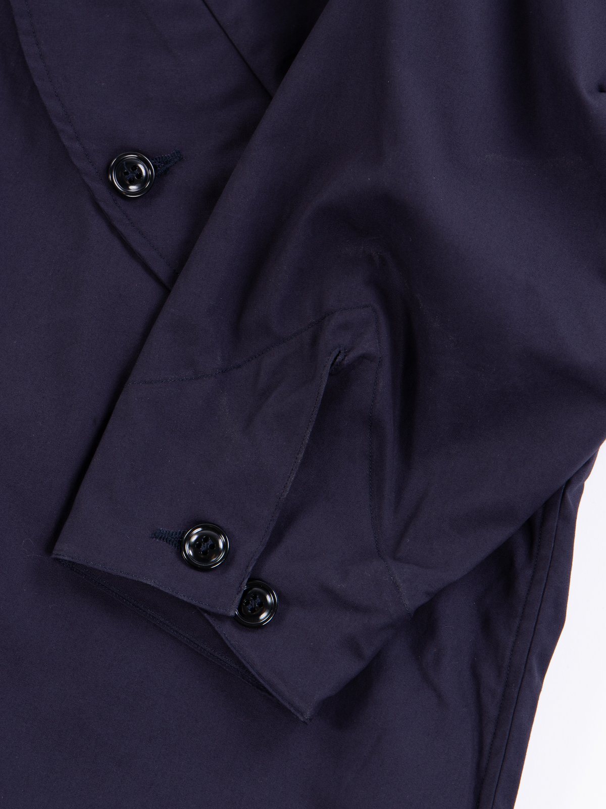 Navy Oxford Vancloth Czech Coat - Image 5