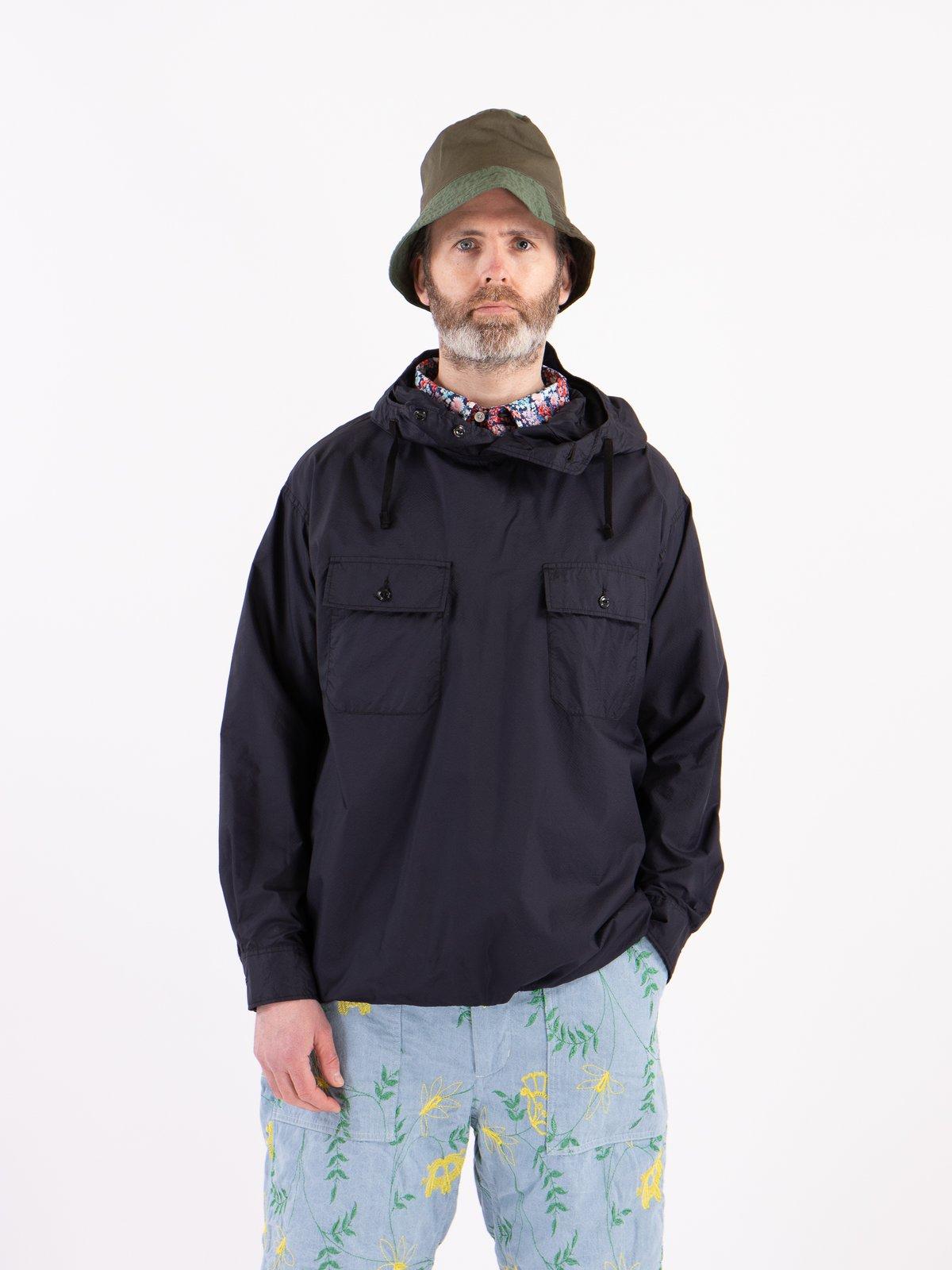 Dark Navy Nylon Micro Ripstop Cagoule Shirt - Image 3