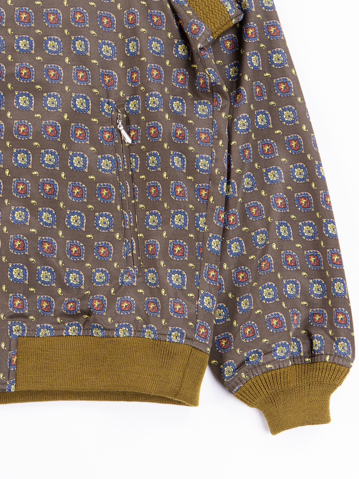 Olive Fine Pattern Sateen W.S.S. Jacket - Image 3