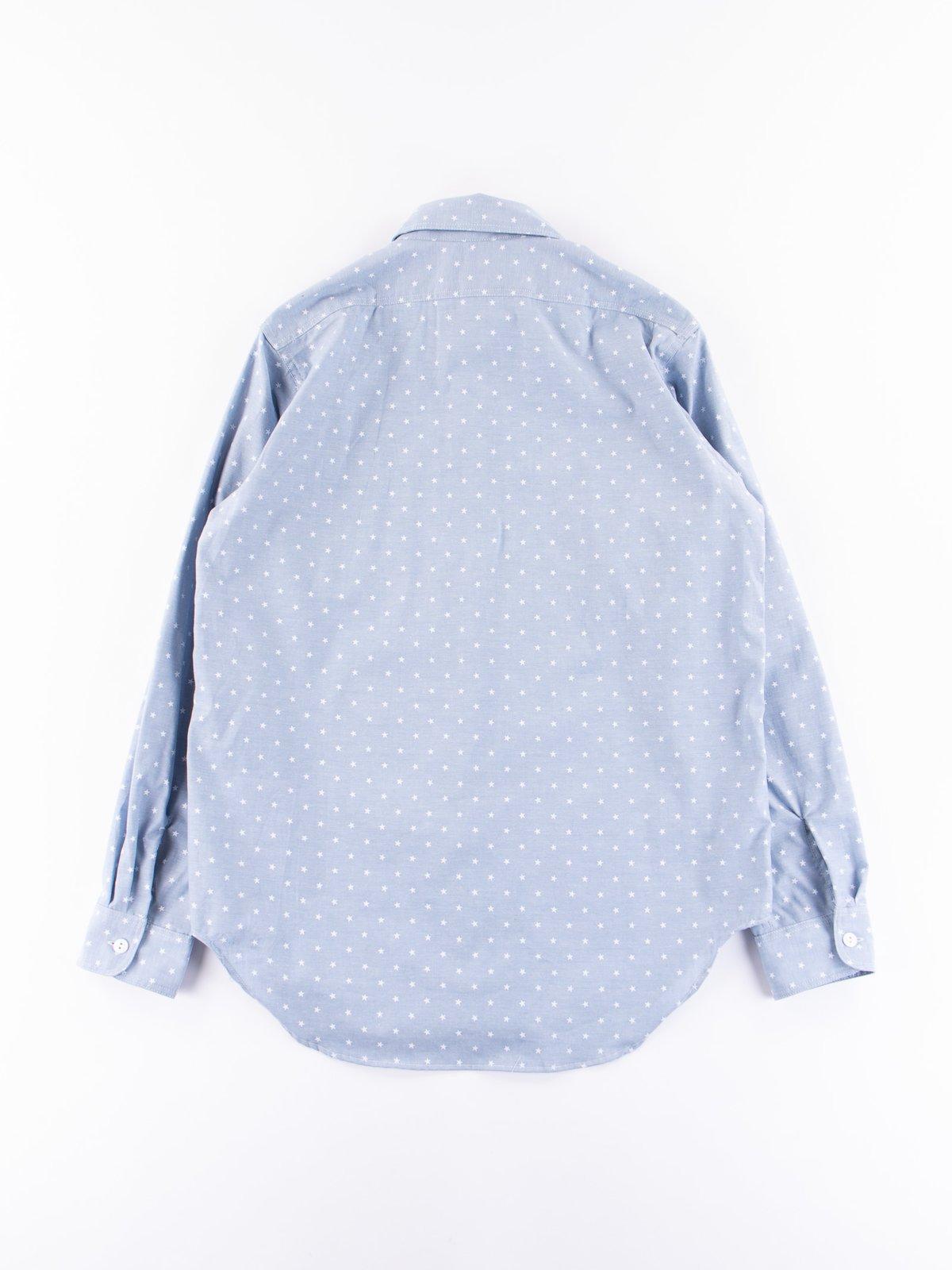 Light Blue Star Chambray Utility Shirt - Image 5