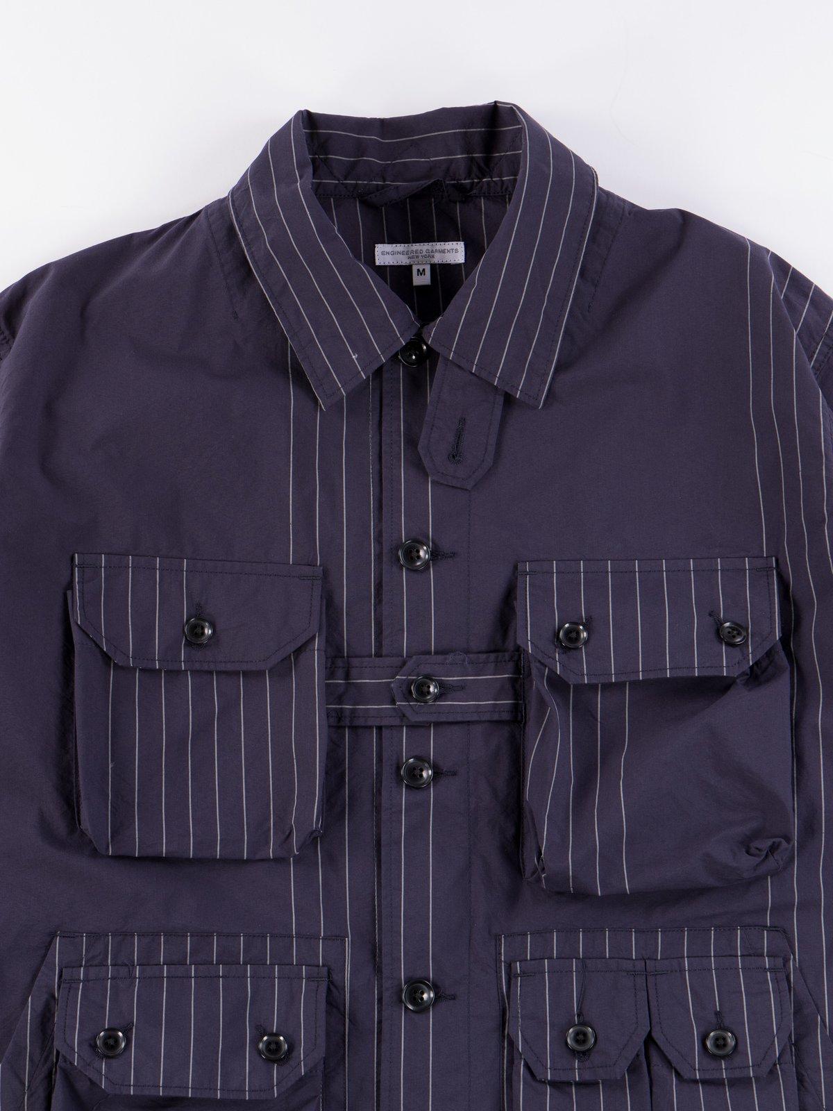 Dark Navy Nyco Gangster Stripe Explorer Shirt Jacket - Image 4
