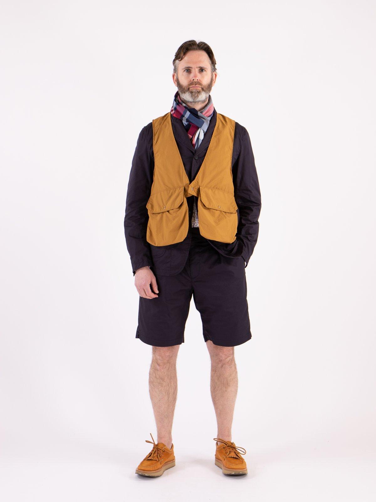 Mustard Acrylic Coated Nylon Taffetta Fowl Vest - Image 2
