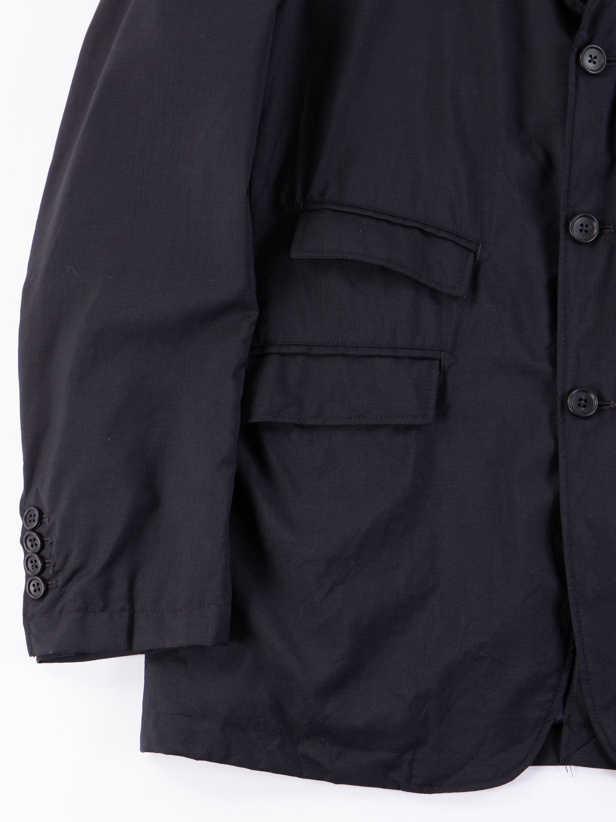 Dark Navy Tropical Wool Andover Jacket - Image 4