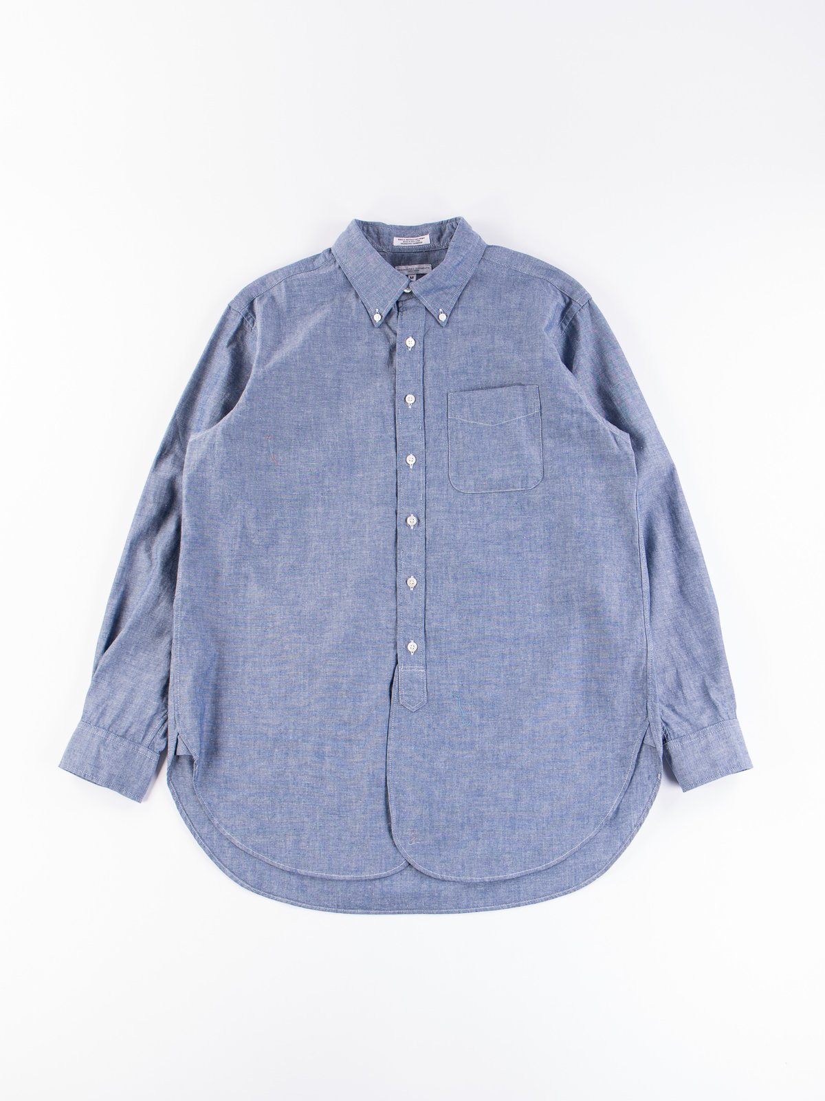 Blue Cotton Chambray 19th Century BD Shirt - Image 1