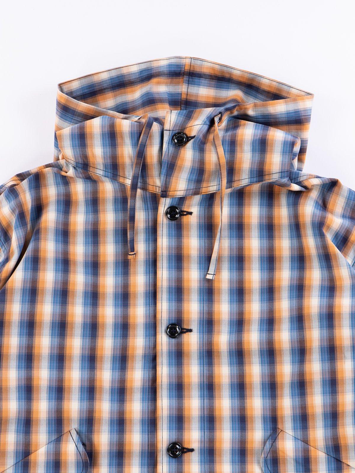 Blue/Orange Plaid Oxford Vancloth Czech Coat - Image 3