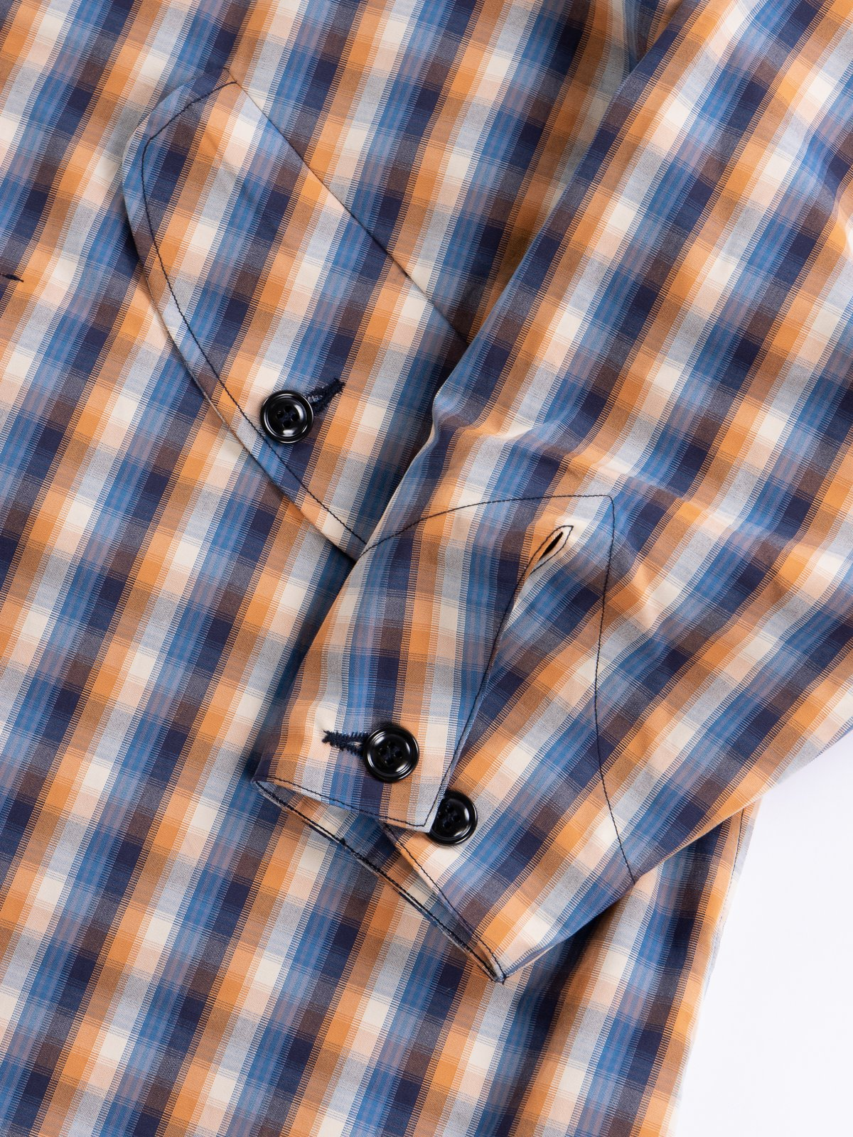 Blue/Orange Plaid Oxford Vancloth Czech Coat - Image 5