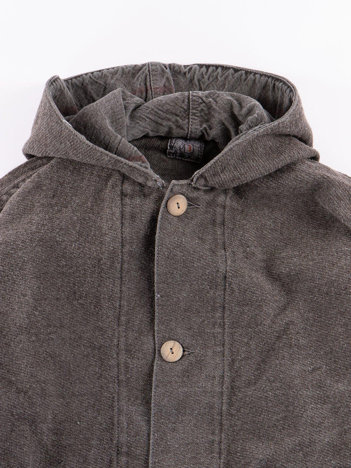 Indian Black Dye Hooded Shepherd's Coat - Image 3