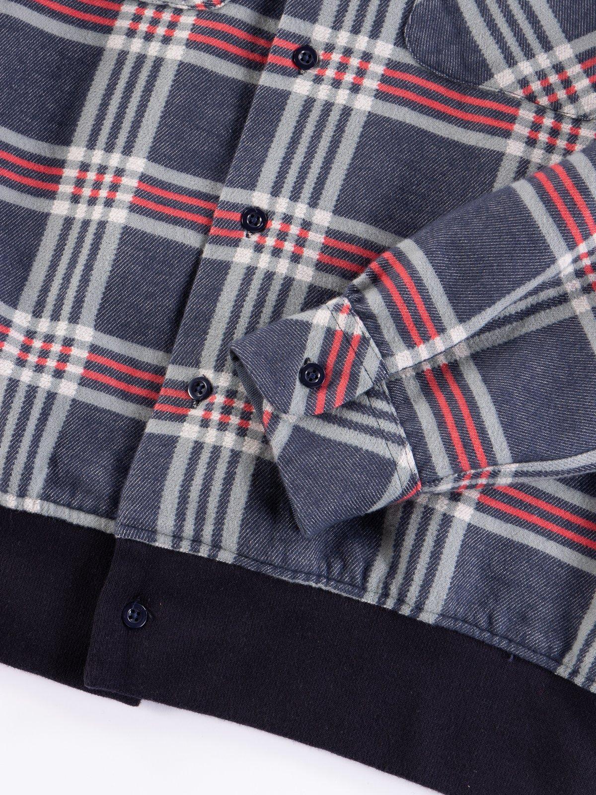 Navy/Teal/Red Big Plaid Classic Shirt - Image 5