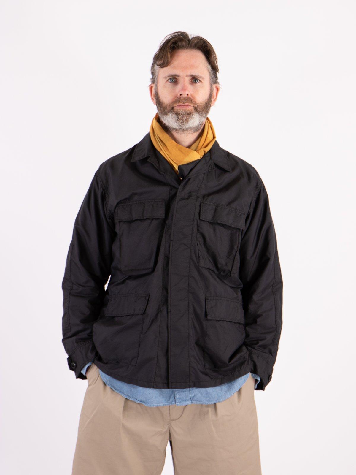 Black Nylon Micro Ripstop BDU Jacket - Image 2