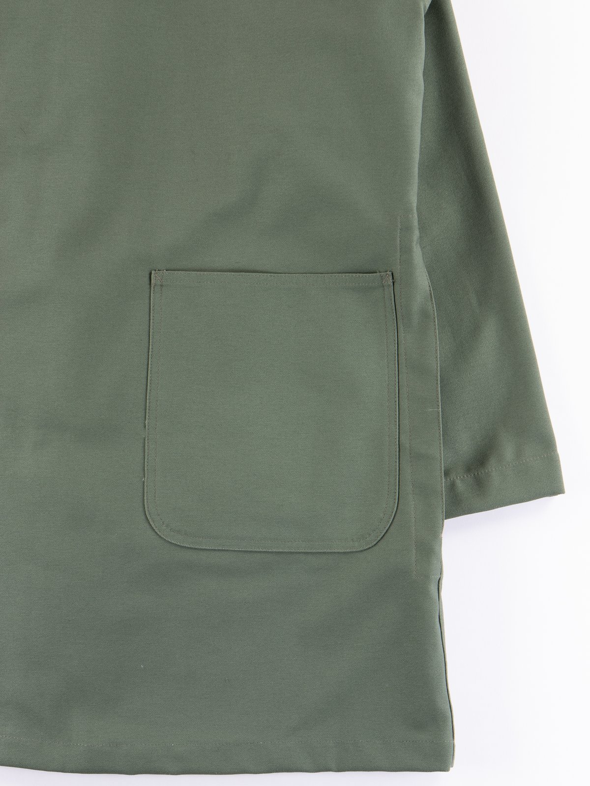 Olive Reversed Sateen Shop Coat - Image 6