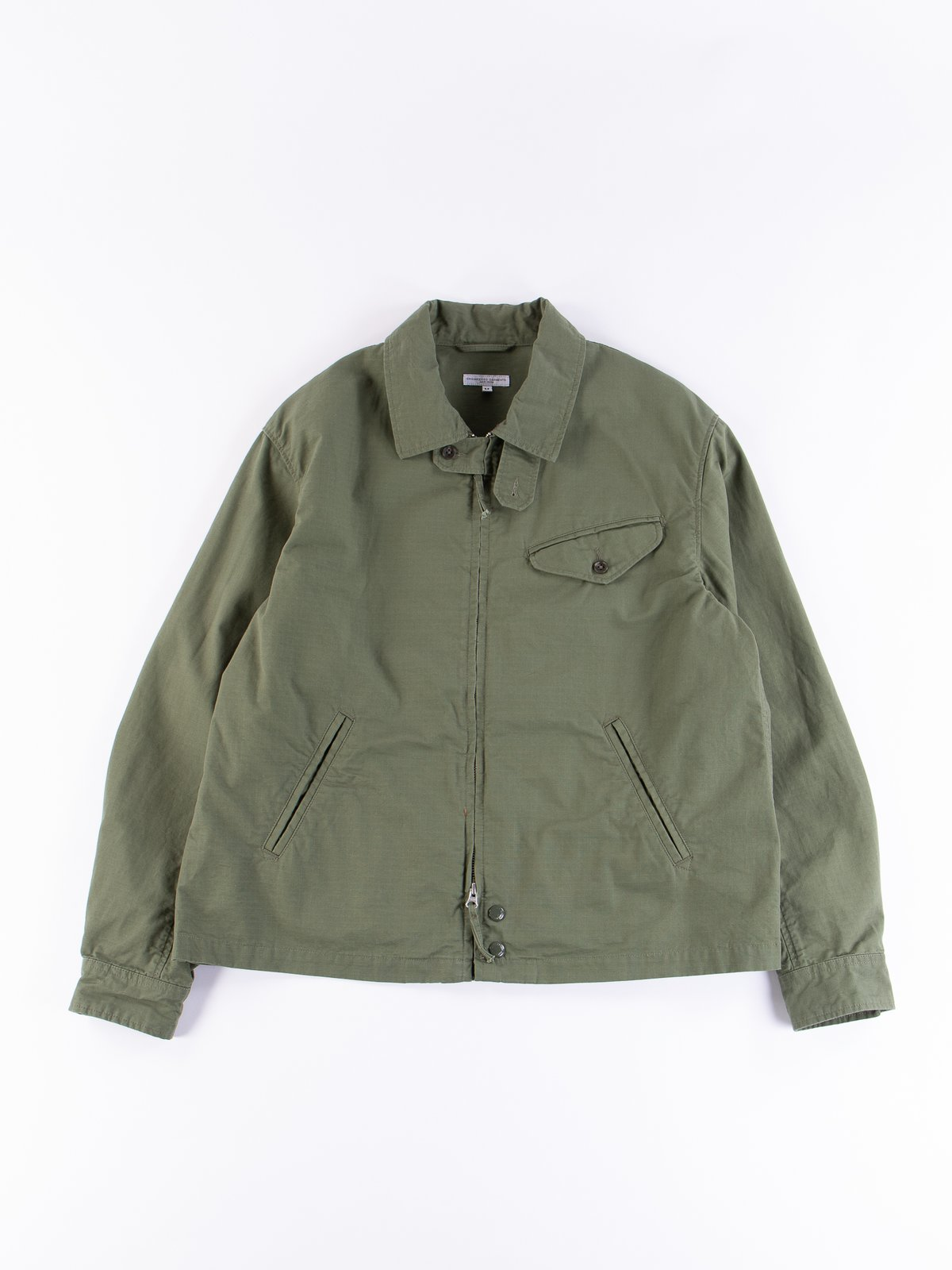Olive Cotton Ripstop Driver Jacket - Image 1