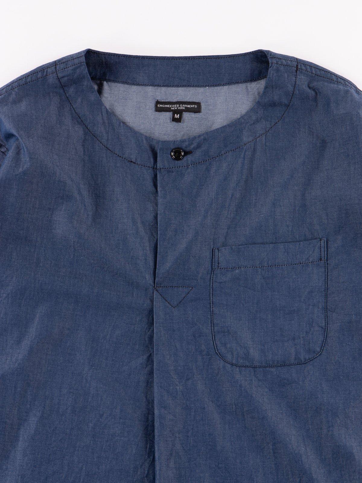 Navy Light Weight Denim MED Shirt - Image 3