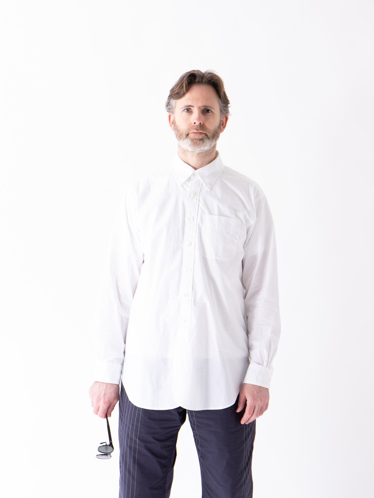 White 100's 2Ply Broadcloth 19th Century BD Shirt - Image 2