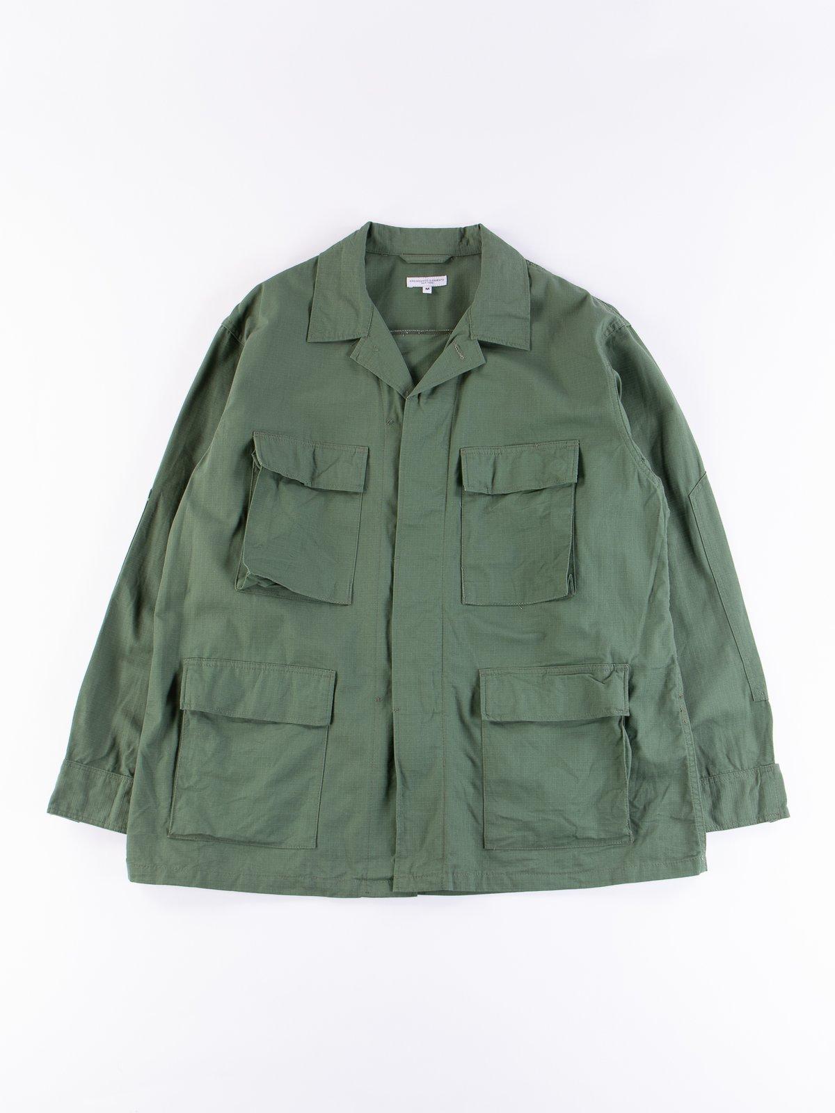 Olive Cotton Ripstop BDU Jacket - Image 1