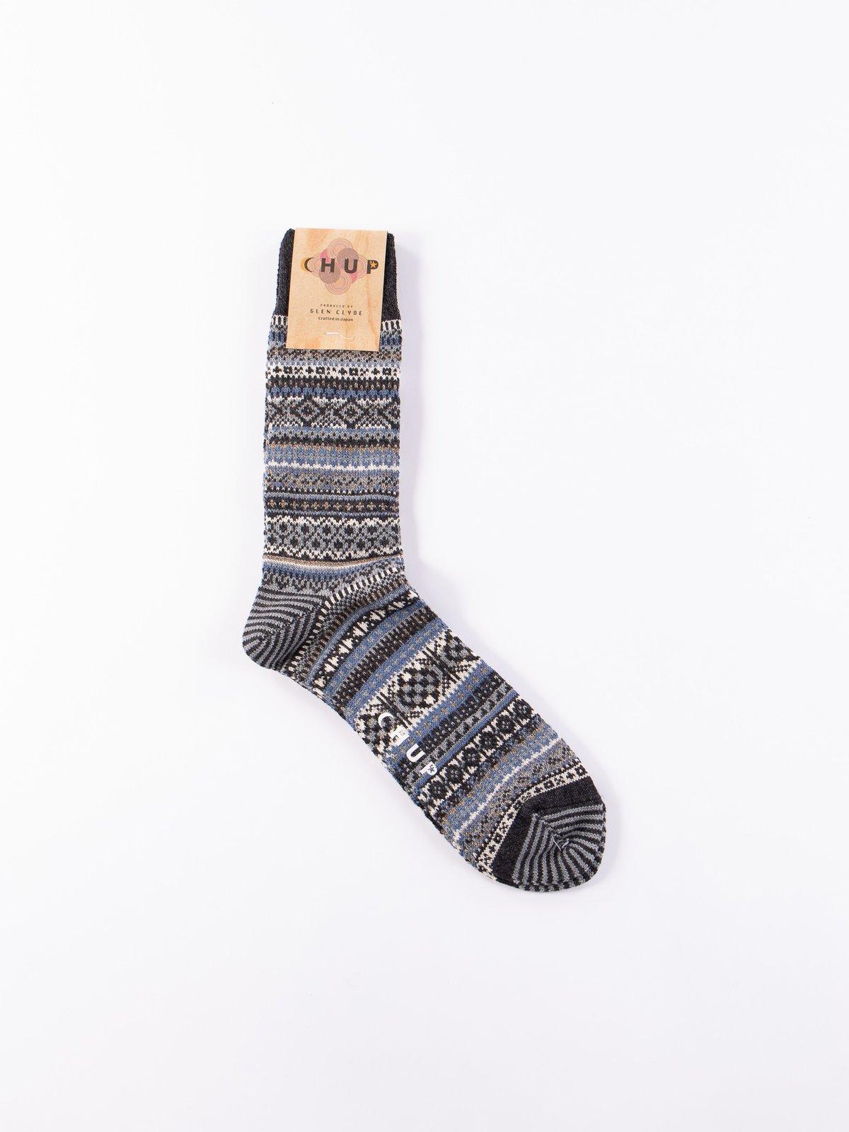 Charcoal Baile Socks - Image 1