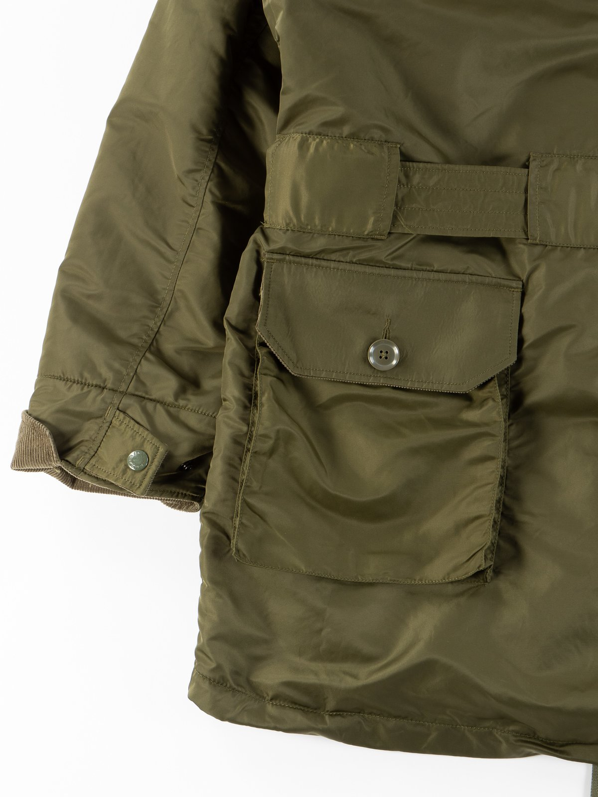 Olive Flight Satin Nylon Field Parka - Image 11