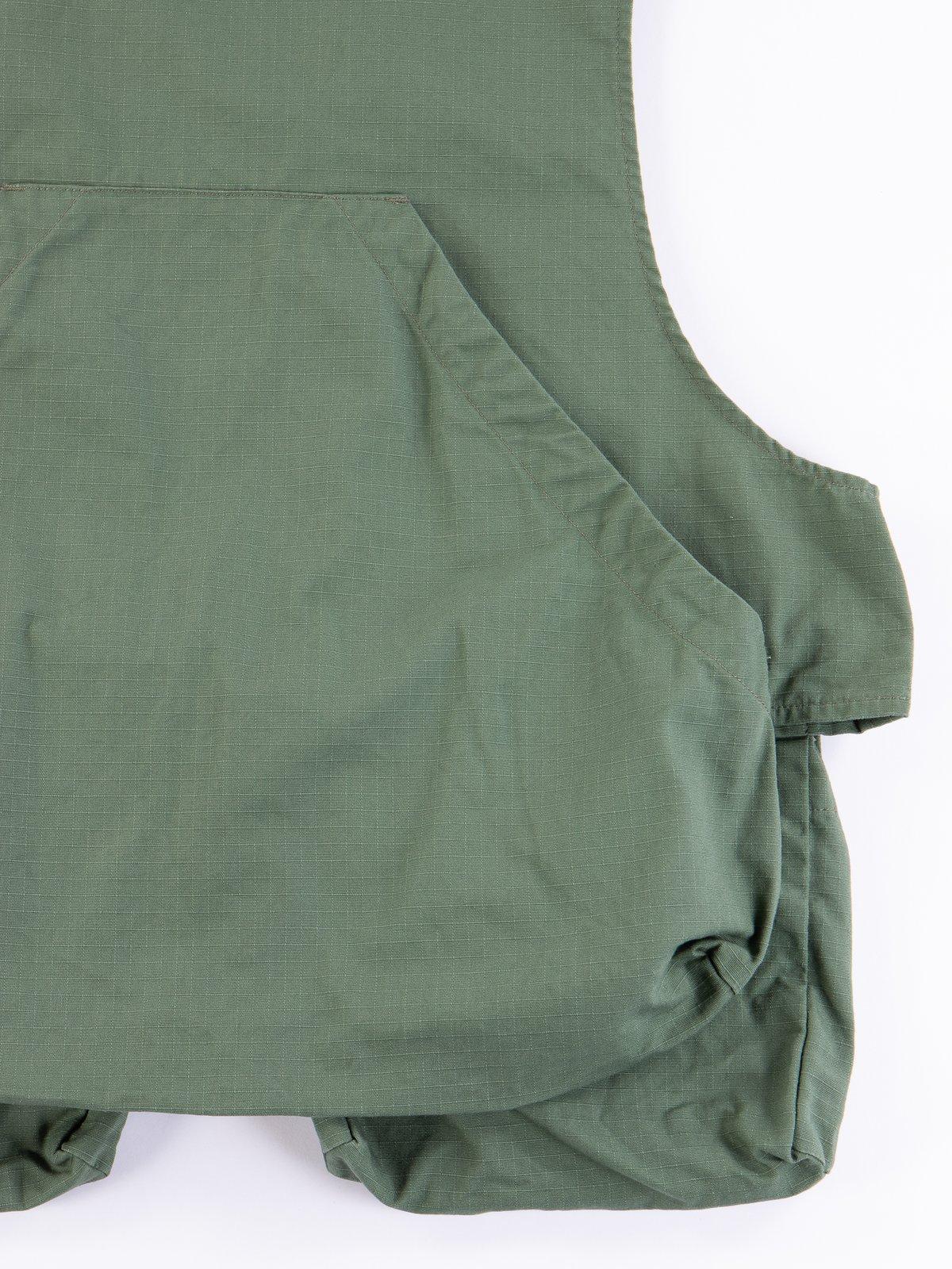 Olive Cotton Ripstop Fowl Vest - Image 6