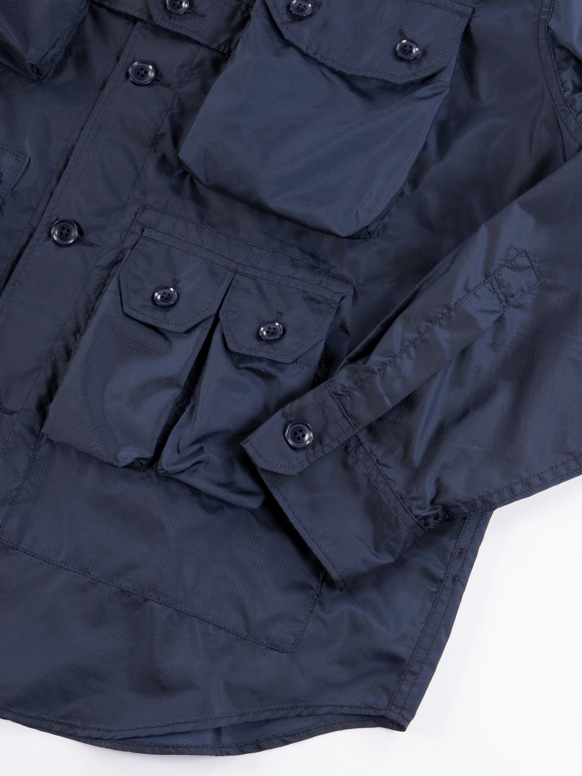 Navy Nylon Micro Ripstop Explorer Shirt Jacket  - Image 6