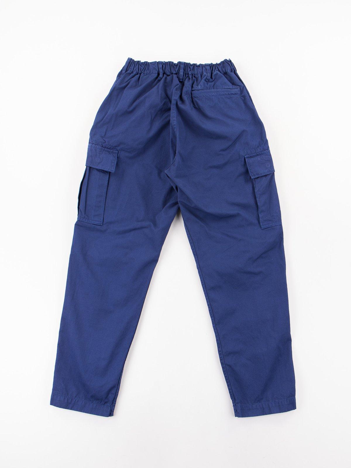 Ink Blue Poplin Easy Cargo Pant - Image 9