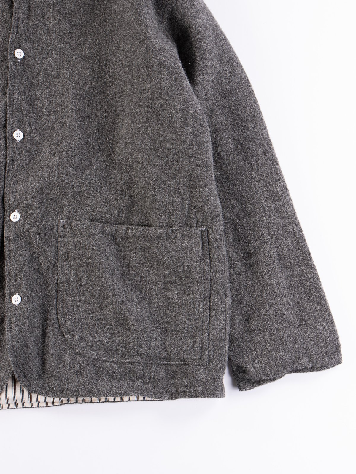 Charcoal Weavers Stock Curve Front Jacket - Image 4