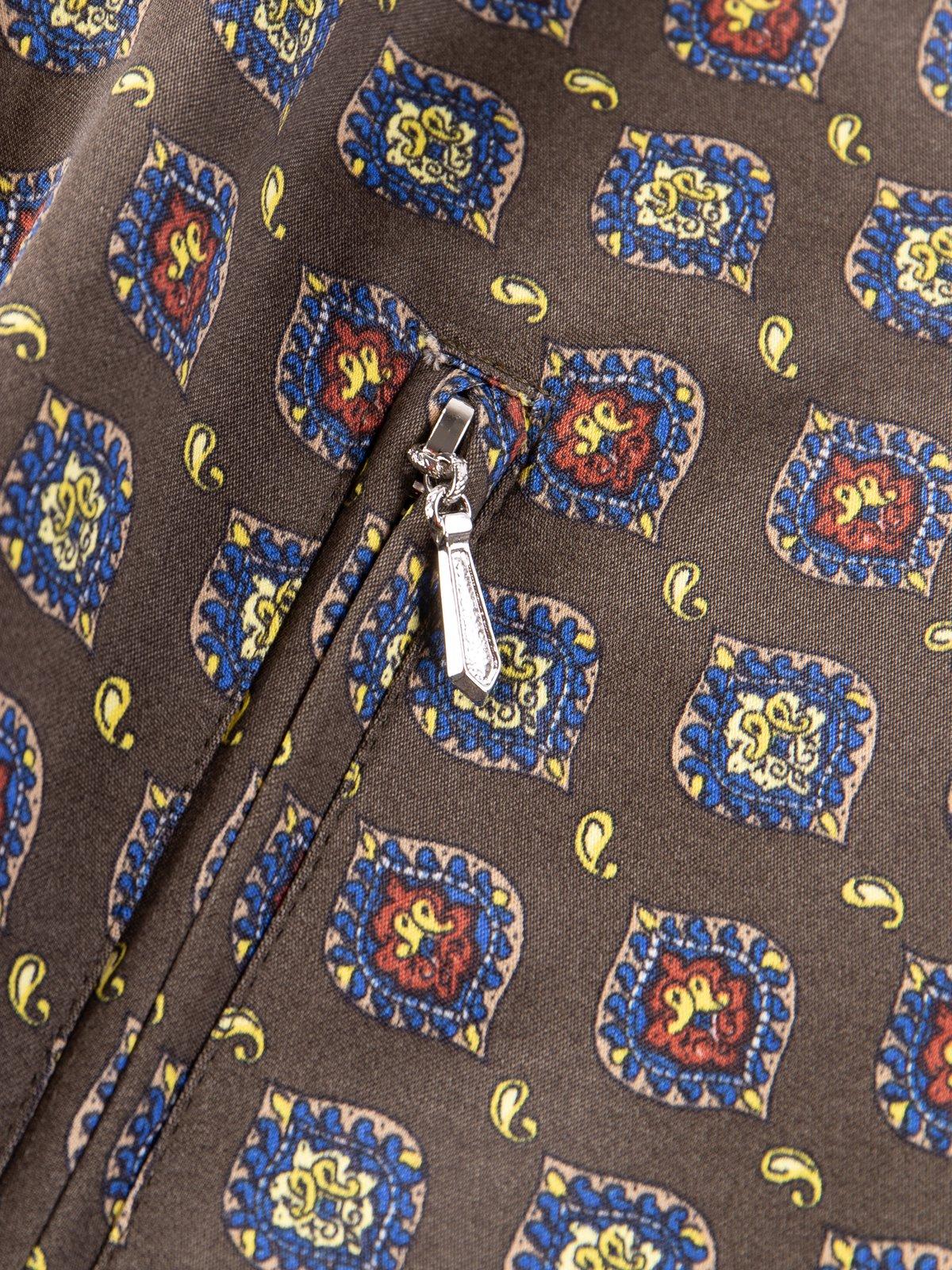 Olive Fine Pattern Sateen W.S.S. Jacket - Image 4