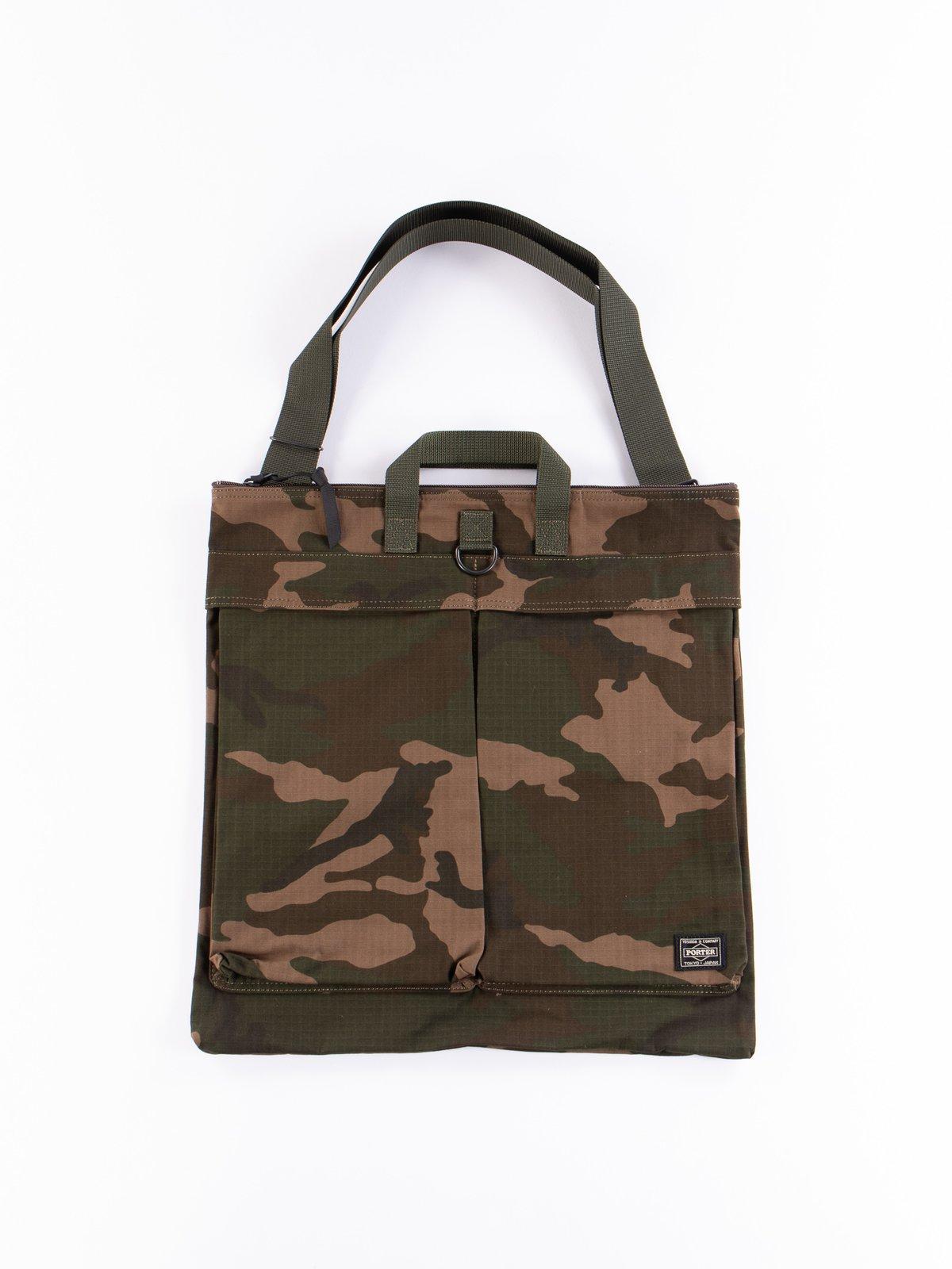 Woodland Olive Platoon 2Way Helmet Bag - Image 1