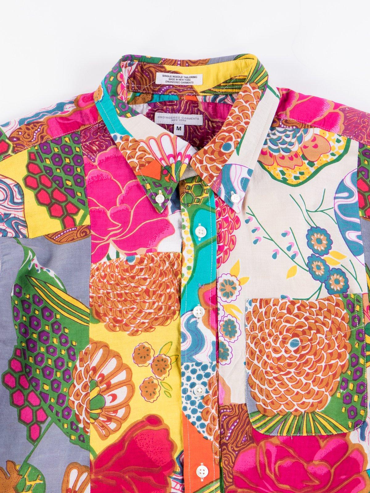 Multi Color Cotton Floral Patchwork 19th Century BD Shirt - Image 4