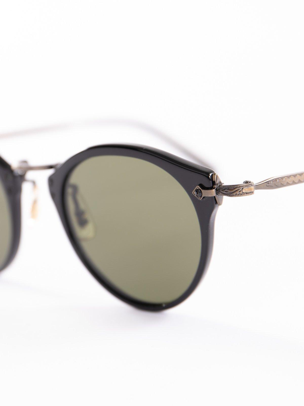 Black–Antique Gold/Green OP–505 Sunglasses - Image 3