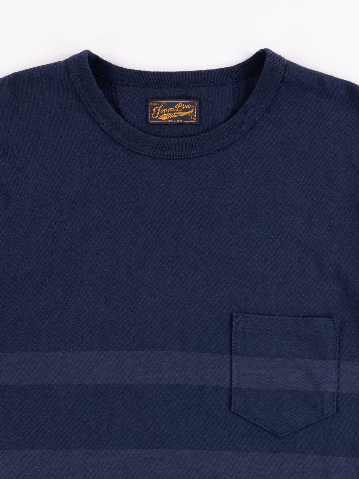 Navy Stripe Cote D'Ivoire Cotton T–Shirt - Image 2