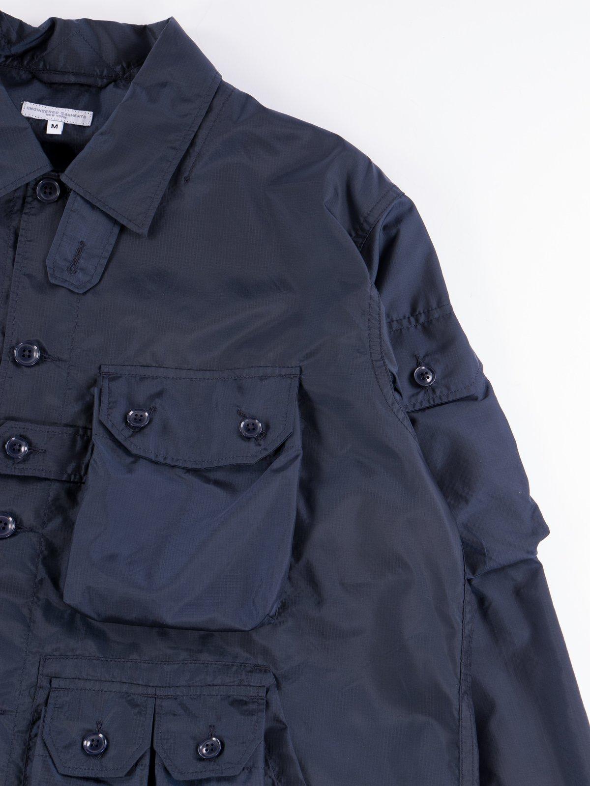 Navy Nylon Micro Ripstop Explorer Shirt Jacket  - Image 5