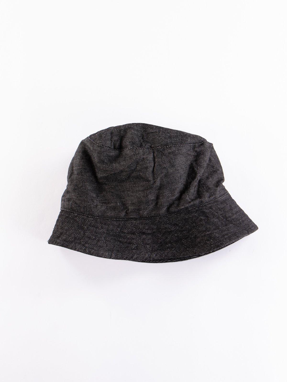 Black 12oz Cone Denim Bucket Hat - Image 1